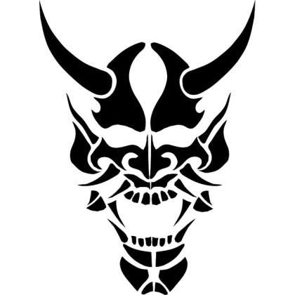 Skull with Horns Free Vector