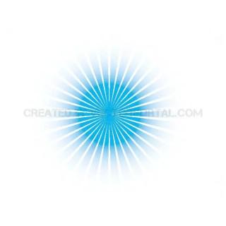 Small Blue Sunburst Free Vector