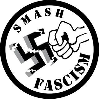 Smash Fascism Sticker Free Vector