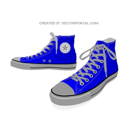 Sneakers All Star Free Vector