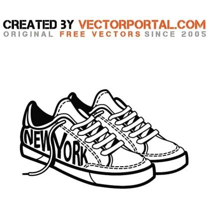 Sneakers Stock Graphics Free Vector
