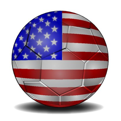 Soccer Ball in Us Colors Free Vector