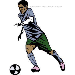 Soccer Player Graphics Free Vector