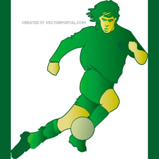 Soccer Player Illustration Free Vector
