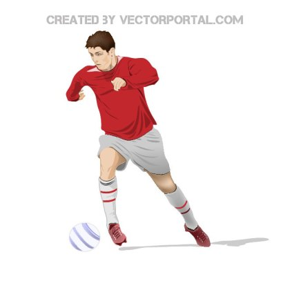 Soccer Player Image Free Vector