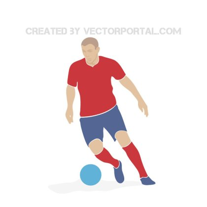 Soccer Player in Action Free Vector