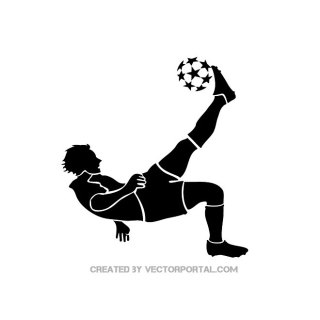 Soccer Player Kicking Ball Free Vector