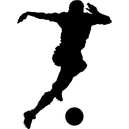 Soccer Player Silhouette Free Vector