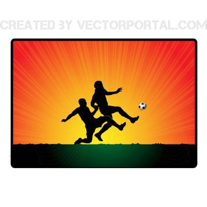 Soccer Players Africa Background Free Vector