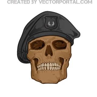 Soldier Skull Free Vector
