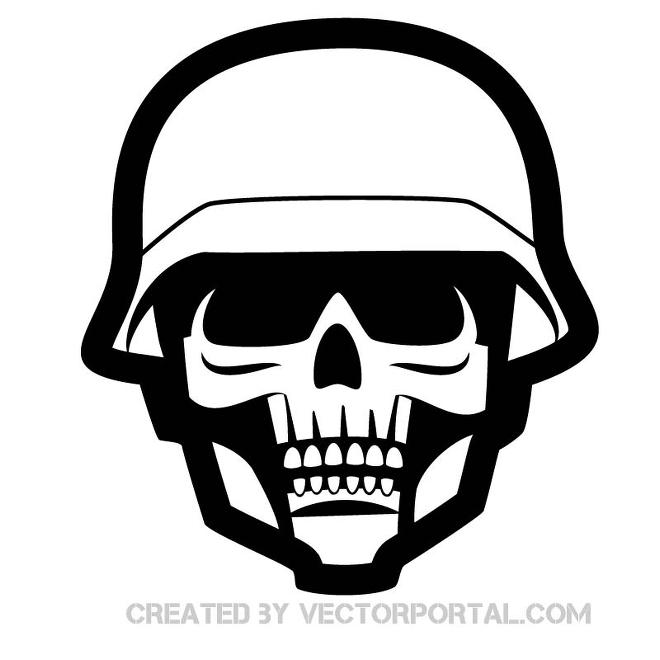 Soldier Skull Image Free Vector
