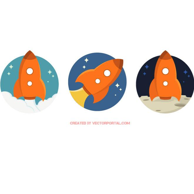 Spaceships Pack Free Vector