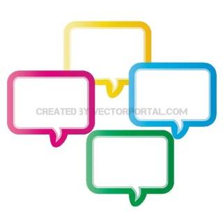 Speech Clouds Graphics Free Vector
