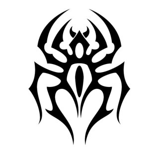 Spider Tribal Style Free Vector