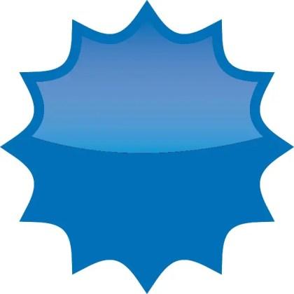 Splash Star Button Free Vector