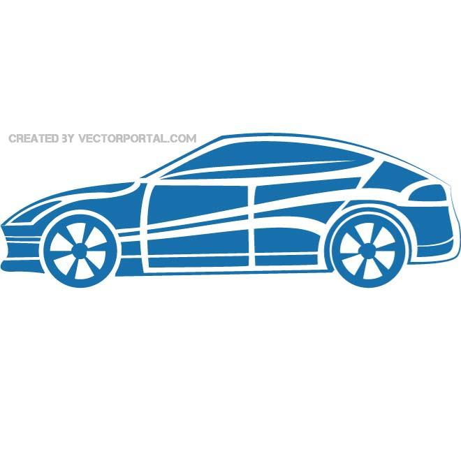Sports Car Silhouette Free Vector