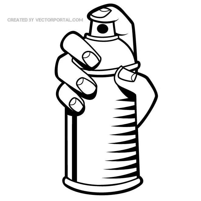 spray paint clip art free vector 123freevectors rh 123freevectors com spray paint free clipart spray paint bottle clipart
