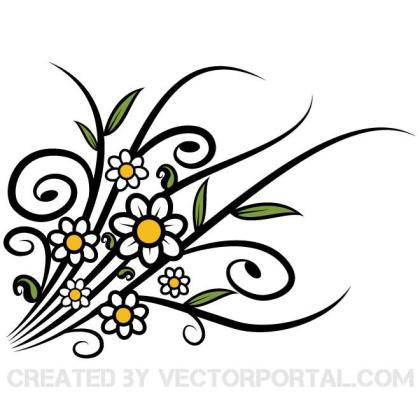 Spring Flower Graphics Free Vector