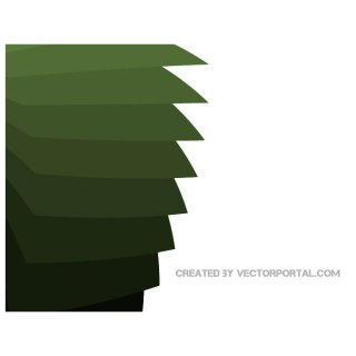 Stacking Green Paper Background Free Vector
