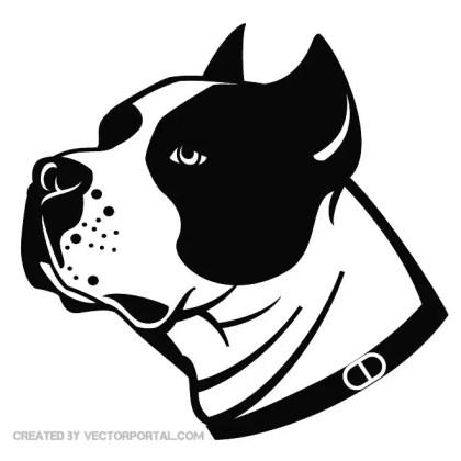 Stafford Dog Illustration Free Vector