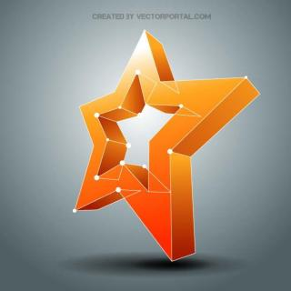 Star 3D Free Vector