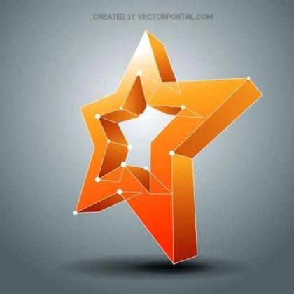 Star 3D Free Vector