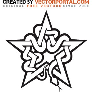Star and Snake Graphics Free Vector