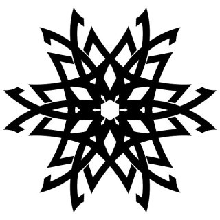 Star Design for Tattoos Free Vector
