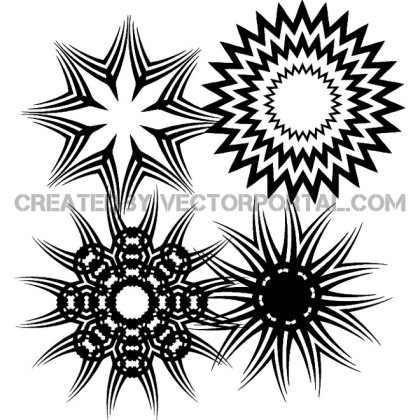Star Shapes Free Vector
