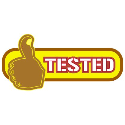 Sticker Tested Free Vector
