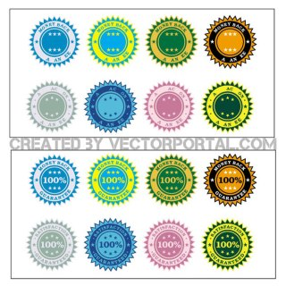 Stickers Collection Free Vector
