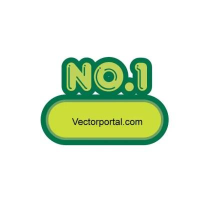 Stickers No 1 Free Vector