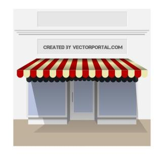 Storefront Graphics Free Vector