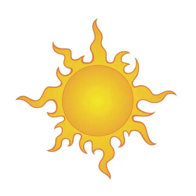 Sun Clip Art 4 Free Vector