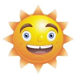 Sun Smiling Free Vector