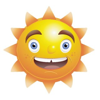 Sun Smiling Free Vector