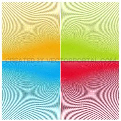 Sunbeam Background Set Free Vector