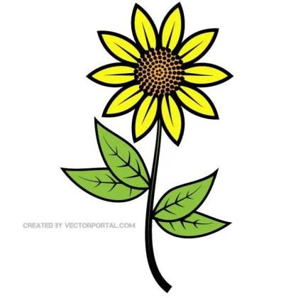 Sunflower Clip Art Free Vector