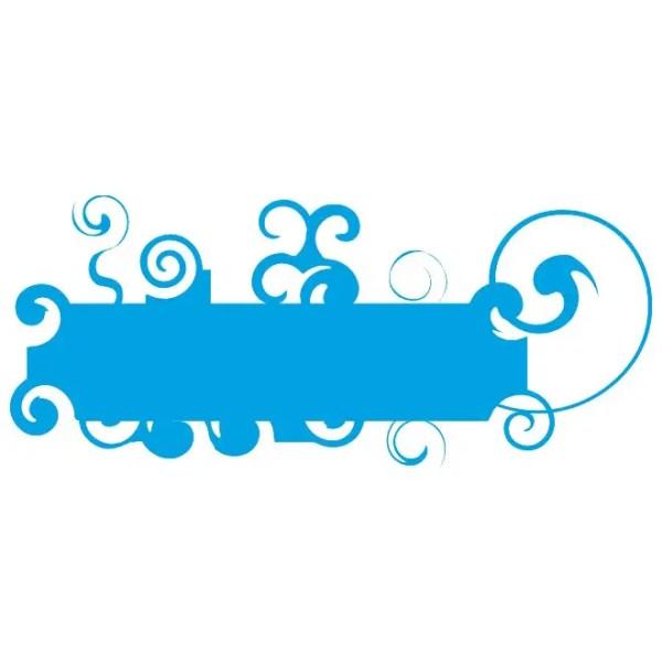 Swirl Blue Banner Background Free Vector