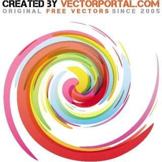 Swirl Color Art Free Vector