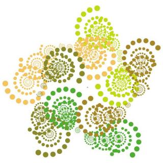 Swirl Dots Background Free Vector