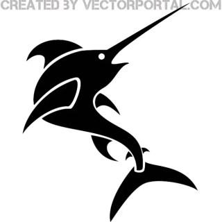 Swordfish Clip Art Image Free Vector