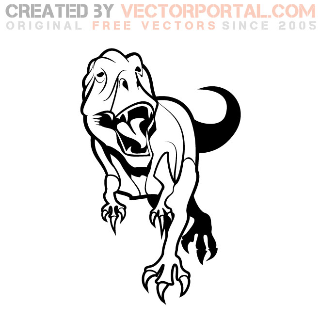 T Rex Graphics Free Vector