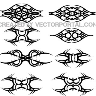 Tattoo Free Set Free Vector