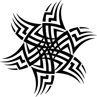 Tattoo Tribal Design Element Free Vector