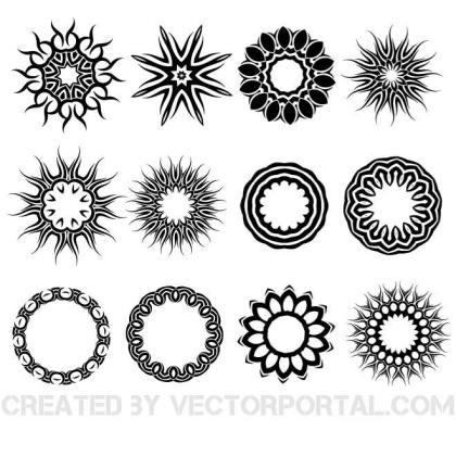 Tattoo Tribal Pack Free Vector