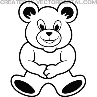 Teddy Bear Graphics Free Vector