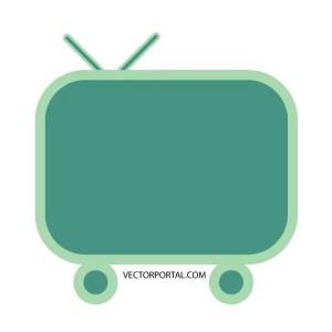 Television Set Free Vector