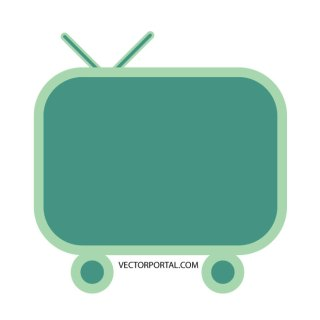 Television Set Free Vector