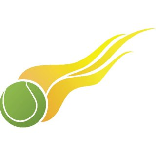 Tennis Ball on Fire Free Vector